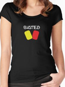 Busted v1 (White Text) Women's Fitted Scoop T-Shirt