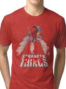 Stranger Things X AKIRA mashup Tri-blend T-Shirt