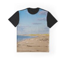 Seagulls On Atlantic Ocean's Beach | Hampton Bays, New York Graphic T-Shirt