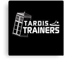 TARDIS Trainers Canvas Print
