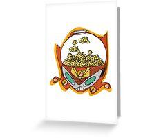 popcorn bot Greeting Card