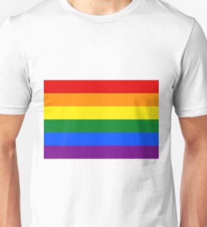Gay Pride Rainbow Flag Unisex T-Shirt