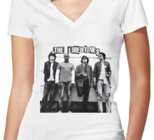 the libertines Women's Fitted V-Neck T-Shirt