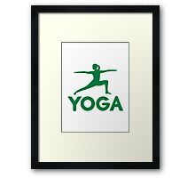 Yoga sports woman Framed Print