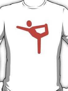 Yoga gymnastics symbol T-Shirt