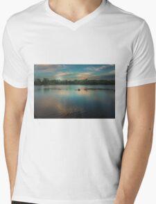 Dusk On the River Mens V-Neck T-Shirt