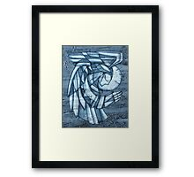Praying angel illustration Framed Print