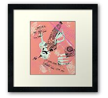 Musical Memories 5 Faux Chine Colle Monoprint Var 1 Framed Print