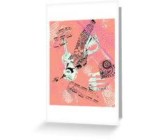 Musical Memories 5 Faux Chine Colle Monoprint Var 1 Greeting Card