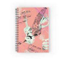 Musical Memories 5 Faux Chine Colle Monoprint Var 1 Spiral Notebook