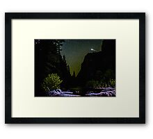 Meteor Shooting Over King's Canyon Stream Framed Print