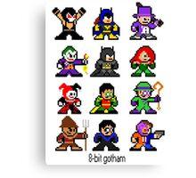 8-bit Gotham Canvas Print