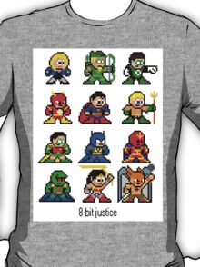 8-bit Justice League T-Shirt