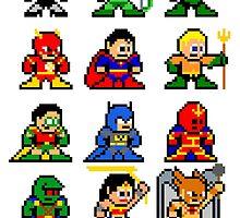 8-bit Justice League by 8 Bit Hero