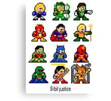 8-bit Justice League Canvas Print
