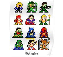 8-bit Justice League Poster