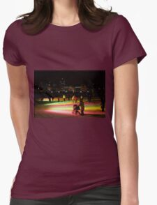 Montreal Old Port Skating Ring  Womens Fitted T-Shirt
