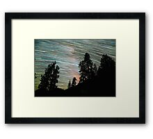 Star Trails and Giant Trees at Sequoia Park Framed Print
