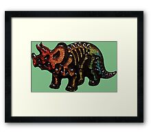 If At First You Don't Succeed, Triceratops Again Framed Print