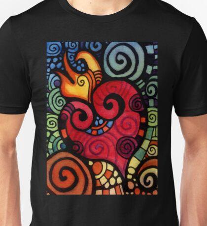 Heart on Fire Unisex T-Shirt