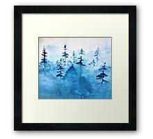 Blue Woods Duvet Framed Print