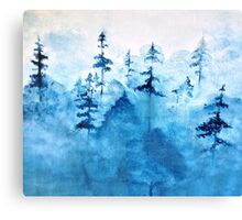 Blue Woods Duvet Canvas Print