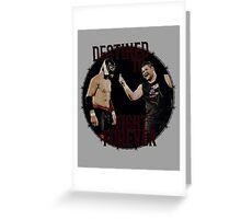 Kevin Owens v Sami Zayn Greeting Card
