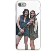 Kardashians with guns: Kylie and Kim iPhone Case/Skin