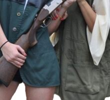 Kardashians with guns: Kylie and Kim Sticker