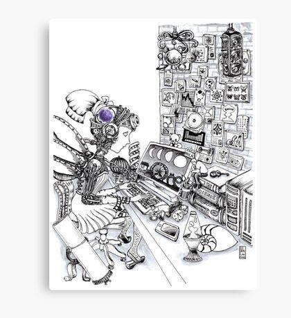 Robot Science Girl Canvas Print