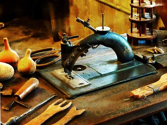 Old Fashioned Sewing Machine by Susan Savad