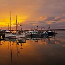 Sunrise at St Helens Wharf by Christine Smith