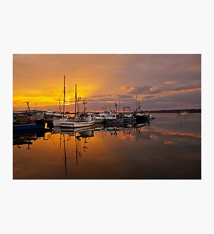 Sunrise at St Helens Wharf Photographic Print