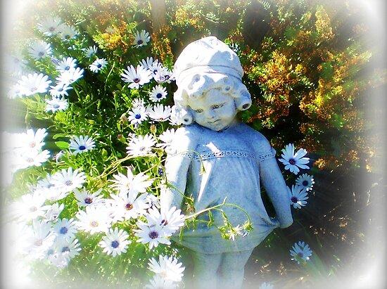 Shy Girl in Garden by EdsMum