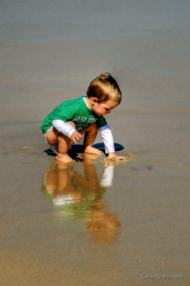 Playing at the Beach by Christine Smith