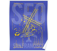 SFO San Francisco Airport Diagram Poster
