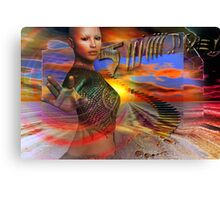 space time Canvas Print