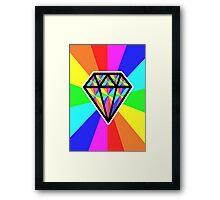 colorful diamond Framed Print