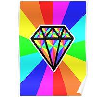 colorful diamond Poster