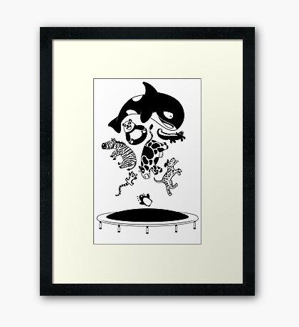 Bouncing Animals Framed Print