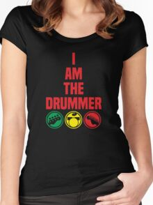 i am the drummer Women's Fitted Scoop T-Shirt