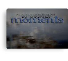 Moments © Vicki Ferrari Canvas Print