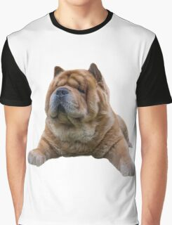 Chow Dog Portrait Graphic T-Shirt