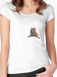 Chow Dog Portrait Women's Fitted Scoop T-Shirt