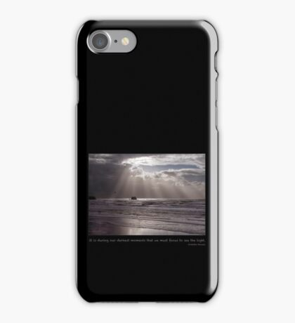Focus to see the Light iPhone Case/Skin