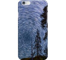 Polaris Star Trails Over Big Forest in King's Canyon iPhone Case/Skin