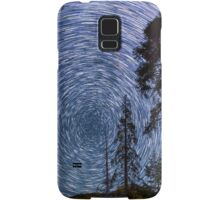 Polaris Star Trails Over Big Forest in King's Canyon Samsung Galaxy Case/Skin