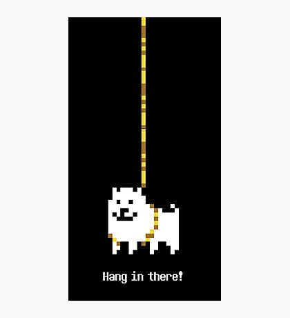 Undertale Dog - Hang In There Photographic Print