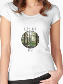 Lets Get Lost Women's Fitted Scoop T-Shirt