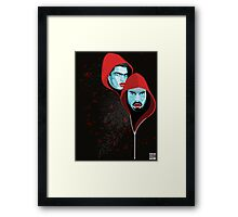 Red riding hoodies Framed Print